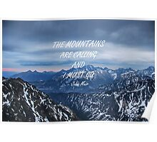 Mountains are calling 7 Poster