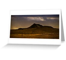 lonely dark mountain Greeting Card
