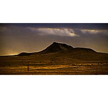 lonely dark mountain Photographic Print