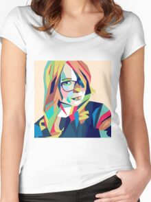 Hipster Girl Women's Fitted Scoop T-Shirt
