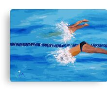 FIRST OFF THE BLOCKS Canvas Print