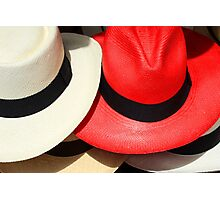 Red and White Hats Photographic Print