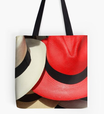 Red and White Hats Tote Bag