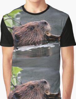 Beaver Working Graphic T-Shirt