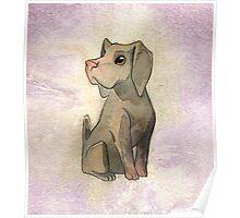 Lavender Watercolor Weimaraner Poster