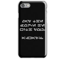 May The Force Be With You. Always. (white) iPhone Case/Skin