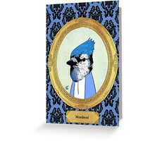 Employee of the Month: Blue Greeting Card