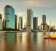 Brisbane from Kangaroo Point, Queensland, Australia by Michael Boniwell