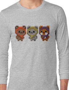 Ewok Pixel Art Long Sleeve T-Shirt