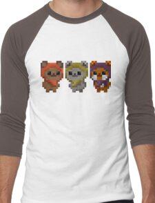 Ewok Pixel Art Men's Baseball ¾ T-Shirt