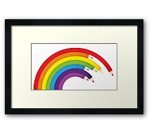 Pencil Rainbow Framed Print