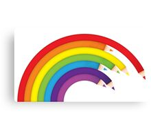 Pencil Rainbow Canvas Print