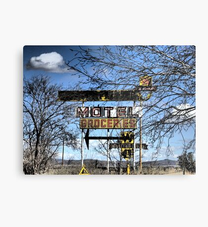 Route 66 New Mexico ~ Modern Ruins Metal Print