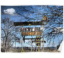 Route 66 New Mexico ~ Modern Ruins Poster