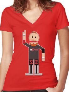 WWE/NXT Sami Zayn (Canadian South Park) Women's Fitted V-Neck T-Shirt