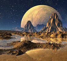 3d Rendered Alien Landscape by art4artists
