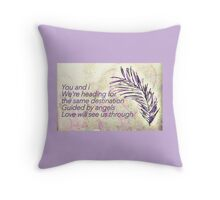 Guided by angels Throw Pillow