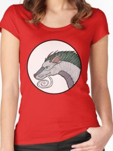 Haku Dragon Doodle Women's Fitted Scoop T-Shirt