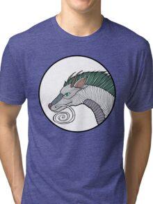 Haku Dragon Doodle Tri-blend T-Shirt