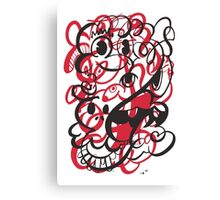 Doodle of the day II – red version Canvas Print