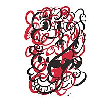 Doodle of the day II – red version Photographic Print