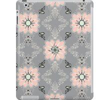 Peach flowers - black outline iPad Case/Skin