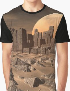 Old Alien Buildings in the Desert - Computer Artwork Graphic T-Shirt