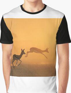 Springbok - African Wildlife Background - Beautiful Motion Graphic T-Shirt