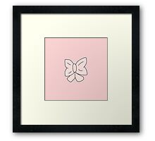 Pink Bow Framed Print