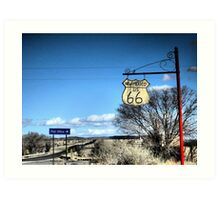 San Fidel Route 66 Sign Charms Art Print