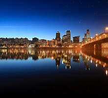 Portland Oregon by night by Monkeyphoto