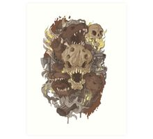 Grizzly woods Art Print