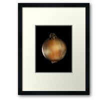 Know Your Onions Framed Print