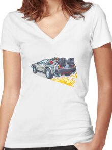 D.M.C OUTATIME Women's Fitted V-Neck T-Shirt