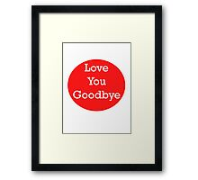 One Direction - Love You Goodbye Framed Print