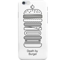 Death by Burger iPhone Case/Skin