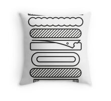 Death by Burger Throw Pillow