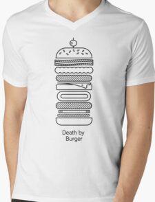 Death by Burger Mens V-Neck T-Shirt