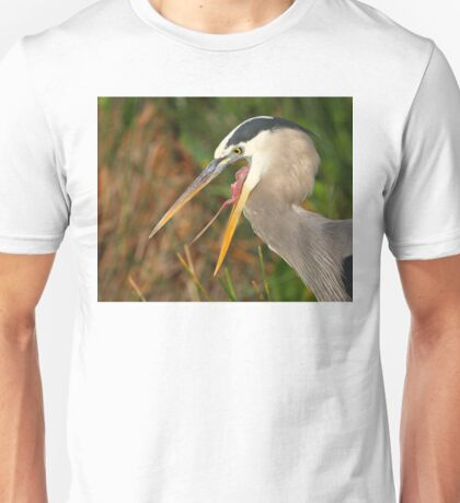 Great Blue Heron Exposure Unisex T-Shirt