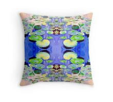 Waterlilies 8 by Stephanie Burns Throw Pillow
