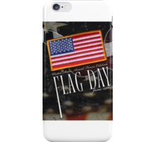 US Military Official Flag Day Poster iPhone Case/Skin