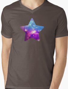 Black Star Mens V-Neck T-Shirt