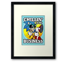 Chillin' Business Framed Print