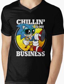 Chillin' Business Mens V-Neck T-Shirt