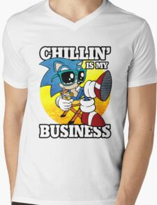 Chillin' Business Mens V-Neck T-Shirt