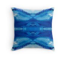 Blue Sea 1 by Stephanie Burns Throw Pillow