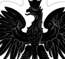 All Black Poland Flag and Eagle Sticker