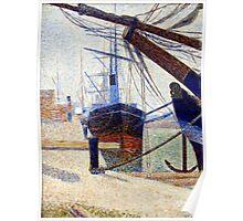 Georges Seurat Corner of the harbor of Honfleu Poster