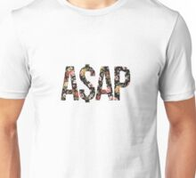 ASAP A$AP FLORAL PATTERN RED PINK YELLOW ROSE Unisex T-Shirt