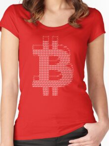 Bitcoin ASCII Tee Women's Fitted Scoop T-Shirt
